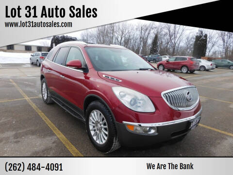 2012 Buick Enclave for sale at Lot 31 Auto Sales in Kenosha WI