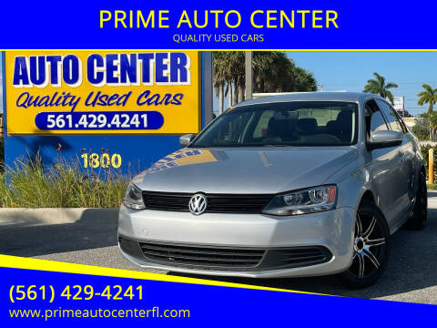 2011 Volkswagen Jetta for sale at PRIME AUTO CENTER in Palm Springs FL