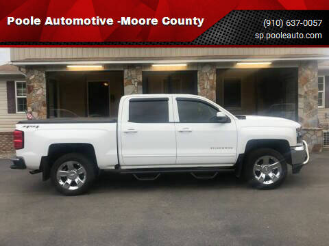 2018 Chevrolet Silverado 1500 for sale at Poole Automotive -Moore County in Aberdeen NC