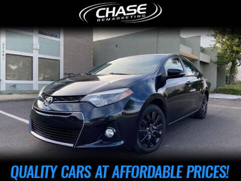 2014 Toyota Corolla for sale at Chase Remarketing in Fremont CA