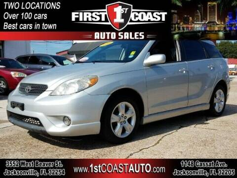 2008 Toyota Matrix for sale at 1st Coast Auto -Cassat Avenue in Jacksonville FL