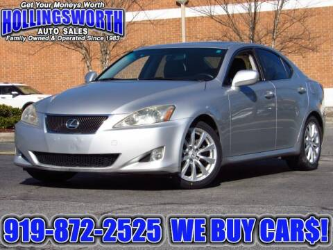 2008 Lexus IS 250 for sale at Hollingsworth Auto Sales in Raleigh NC