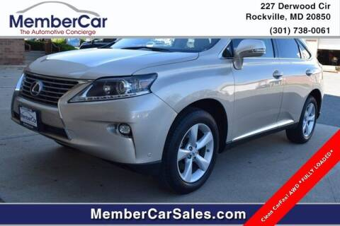 2015 Lexus RX 350 for sale at MemberCar in Rockville MD