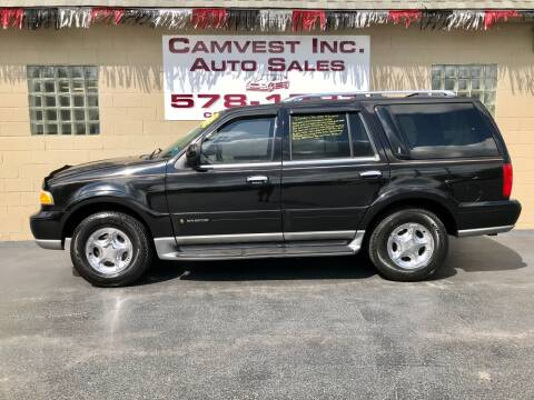 2002 Lincoln Navigator for sale at Camvest Inc. Auto Sales in Depew NY
