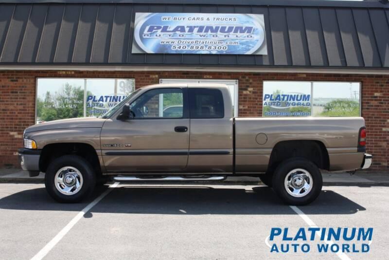 2001 Dodge Ram Pickup 1500 for sale at Platinum Auto World in Fredericksburg VA