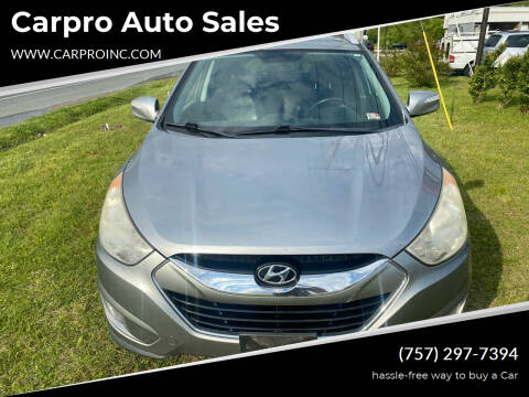 2012 Hyundai Tucson for sale at Carpro Auto Sales in Chesapeake VA
