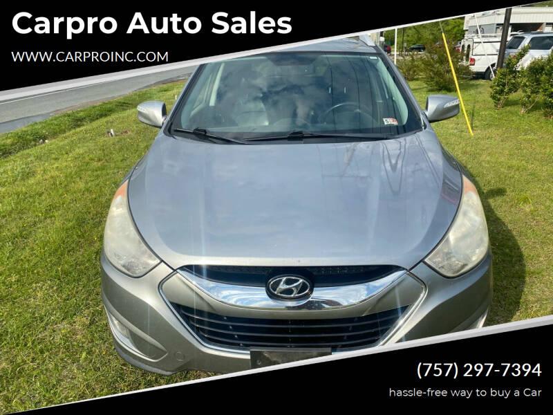 2012 Hyundai Tucson for sale at Carpro Auto Sales in Chesapeake VA