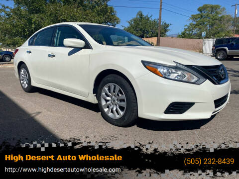 2016 Nissan Altima for sale at High Desert Auto Wholesale in Albuquerque NM