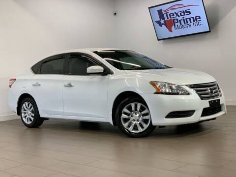 2015 Nissan Sentra for sale at Texas Prime Motors in Houston TX