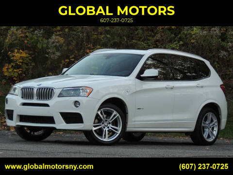 2014 BMW X3 for sale at GLOBAL MOTORS in Binghamton NY