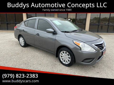 2017 Nissan Versa for sale at Buddys Automotive Concepts LLC in Bryan TX