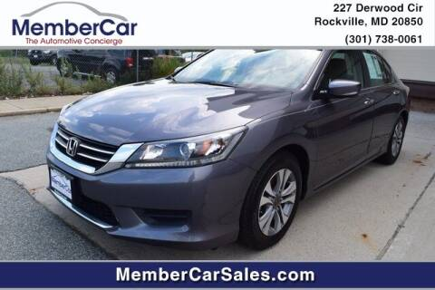 2015 Honda Accord for sale at MemberCar in Rockville MD