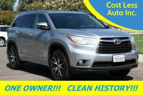 2015 Toyota Highlander for sale at Cost Less Auto Inc. in Rocklin CA