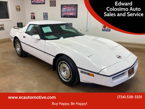 1987 Chevrolet Corvette for sale at Edward Colosimo Auto Sales and Service in Evans City PA