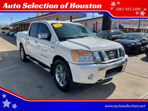 2012 Nissan Titan for sale at Auto Selection of Houston in Houston TX