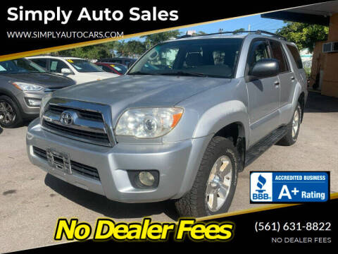 2006 Toyota 4Runner for sale at Simply Auto Sales in Palm Beach Gardens FL