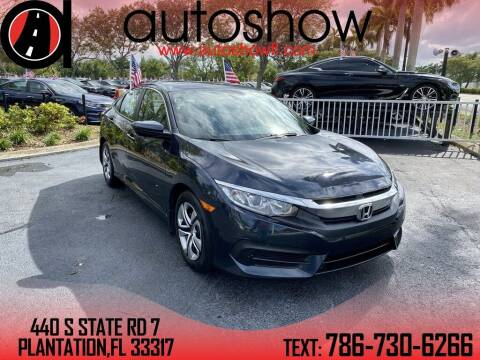 2017 Honda Civic for sale at AUTOSHOW SALES & SERVICE in Plantation FL