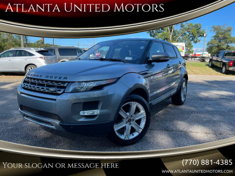 2013 Land Rover Range Rover Evoque for sale at Atlanta United Motors in Jefferson GA