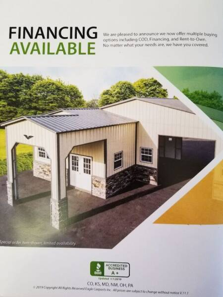 Eagle Garages/Carports/RV Covers for sale at QUALITY MOTOR COMPANY in Portales NM
