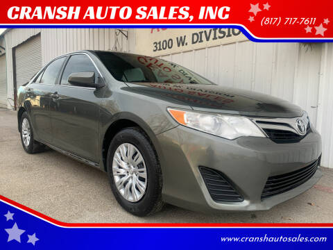 2012 Toyota Camry for sale at CRANSH AUTO SALES, INC in Arlington TX