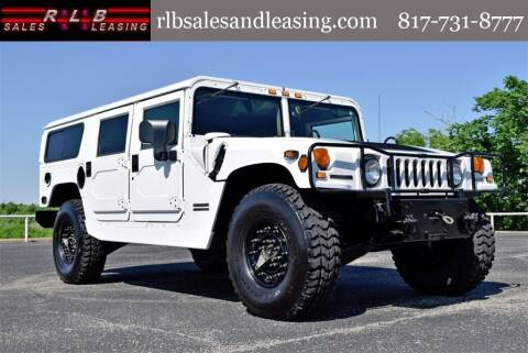 2001 HUMMER H1 for sale at RLB Sales and Leasing in Fort Worth TX