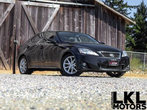 2011 Lexus IS 250 for sale at LKL Motors in Puyallup WA