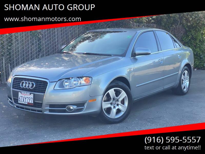 2006 Audi A4 for sale at SHOMAN MOTORS in Davis CA