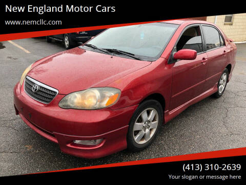 2005 Toyota Corolla for sale at New England Motor Cars in Springfield MA