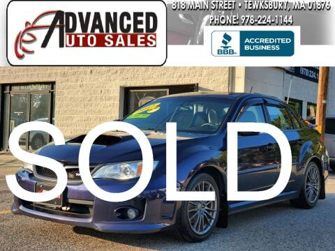 2012 Subaru Impreza for sale at Advanced Auto Sales in Tewksbury MA