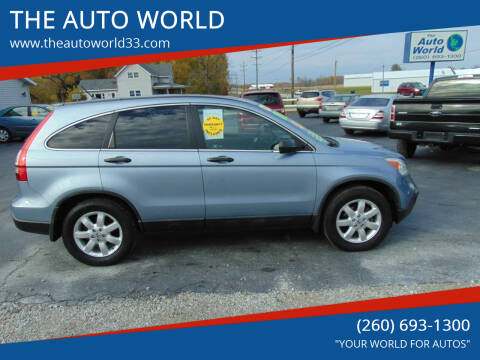 2008 Honda CR-V for sale at THE AUTO WORLD in Churubusco IN