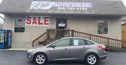 2013 Ford Focus for sale at Ritz Auto Sales, LLC in Paintsville KY