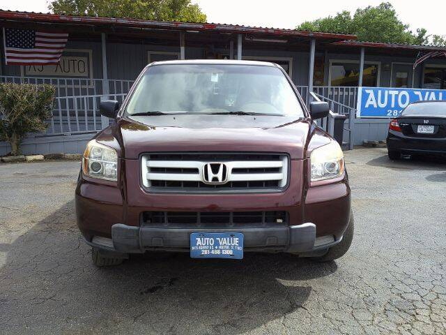 2007 Honda Pilot for sale at AUTO VALUE FINANCE INC in Stafford TX
