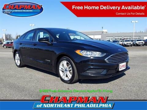 2018 Ford Fusion Hybrid for sale at CHAPMAN FORD NORTHEAST PHILADELPHIA in Philadelphia PA
