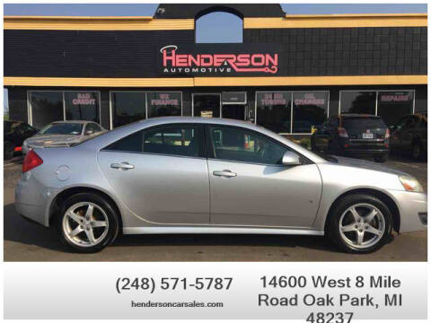 2009 Pontiac G6 for sale at Henderson Automotive, LLC in Oak Park MI