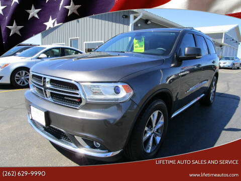 2016 Dodge Durango for sale at Lifetime Auto Sales and Service in West Bend WI