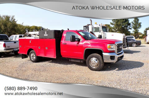 2015 GMC Sierra 3500HD CC for sale at ATOKA WHOLESALE MOTORS in Atoka OK