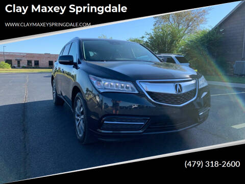 2016 Acura MDX for sale at Clay Maxey Springdale in Springdale AR