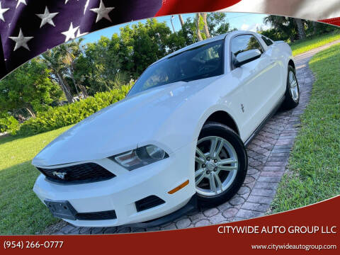 2011 Ford Mustang for sale at Citywide Auto Group LLC in Pompano Beach FL