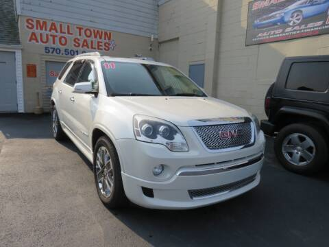 2011 GMC Acadia for sale at Small Town Auto Sales in Hazleton PA