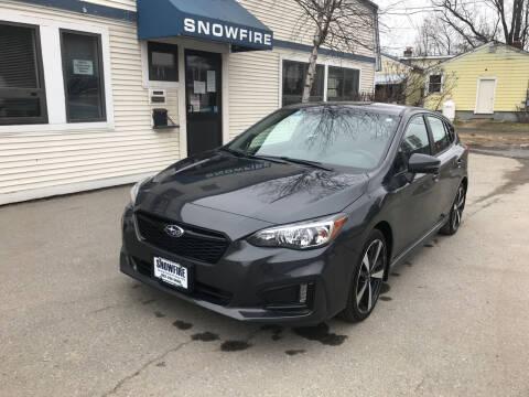 2019 Subaru Impreza for sale at Snowfire Auto in Waterbury VT