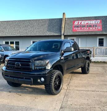 2013 Toyota Tundra for sale at Stephen Motor Sales LLC in Caldwell OH