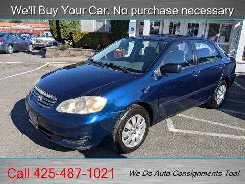 2004 Toyota Corolla for sale at Platinum Autos in Woodinville WA