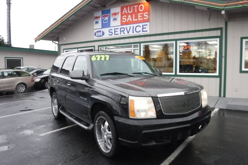 2002 Cadillac Escalade for sale at 777 Auto Sales and Service in Tacoma WA