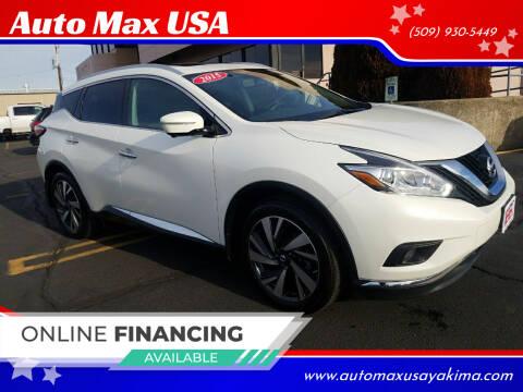 2015 Nissan Murano for sale at Auto Max USA in Yakima WA