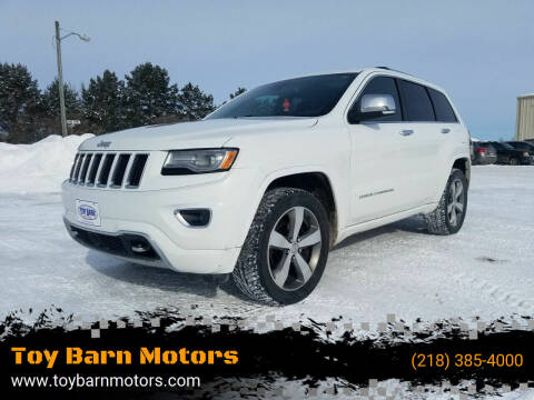 2015 Jeep Grand Cherokee for sale at Toy Barn Motors in New York Mills MN