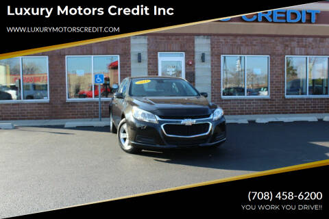 2015 Chevrolet Malibu for sale at Luxury Motors Credit Inc in Bridgeview IL