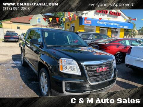 2017 GMC Terrain for sale at C & M Auto Sales in Detroit MI