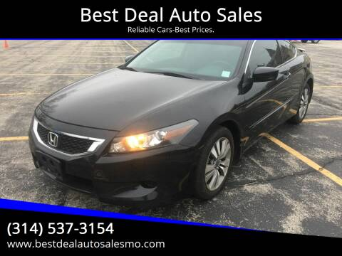 2008 Honda Accord for sale at Best Deal Auto Sales in Saint Charles MO