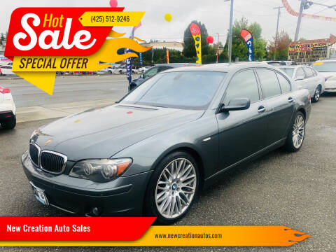2008 BMW 7 Series for sale at New Creation Auto Sales in Everett WA