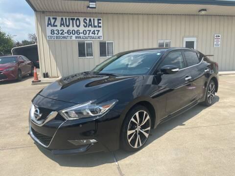 2017 Nissan Maxima for sale at AZ Auto Sale in Houston TX